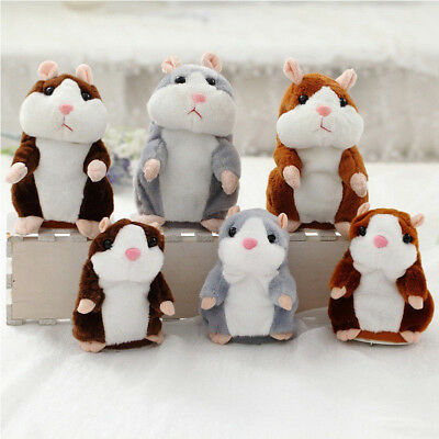 Cheeky Talking Hamster Repeat What You Say Battery Pet  Plush Cute Toy Gift G7