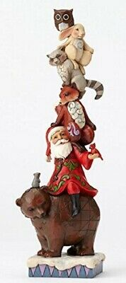 Jim Shore Totem-ly Sweet Santa Stacked with Animals Christmas Figurine 4055683