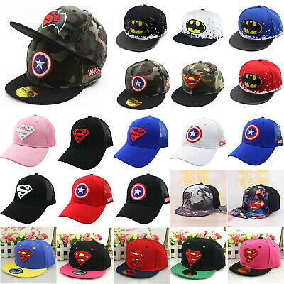 Kids Boys Girls Captain Superman Hip Hop Baseball Summer Sports Trucker Cap Hats