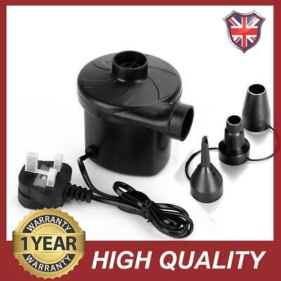240V Electric Air Pump Camping Airbed Paddling Pool UK Mains Plug UK Standard