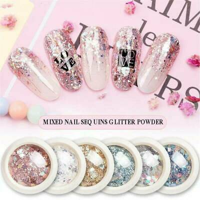 Mixed Nail Art Glitter Powder Sequins Broken Flakes 3D Laser Dust Flakes Decor