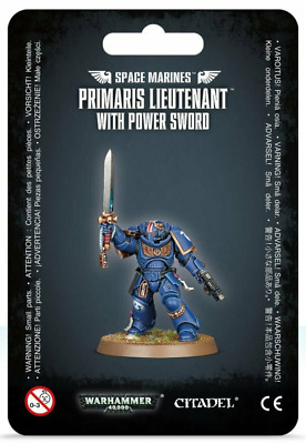 Warhammer 40K Space Marines Primaris Lieutenant with Power Sword Astartes