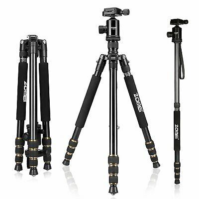Zomei Z668 Aluminum Travel Tripod&Ball Head Monopod For Nikon Canon DSLR Camera