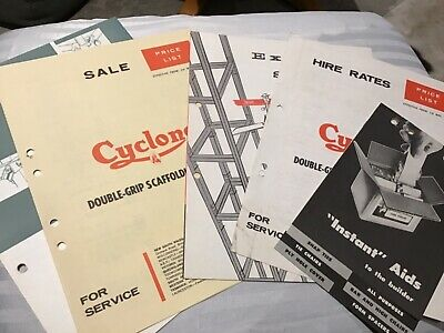 Vintage Cyclone Racks and Scaffolding Pricelists / Brochures