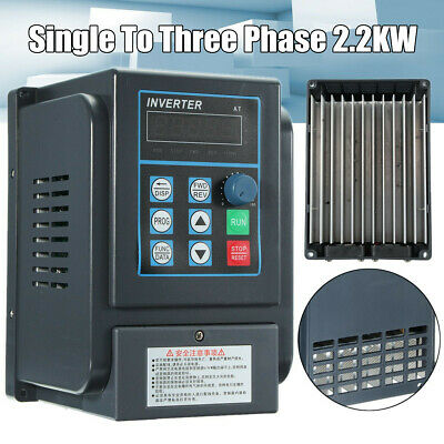 2.2KW 3HP 220V Single To 380V 3 Phase Variable Frequency Drive Converter 12A !