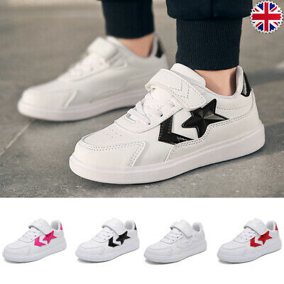 Kids Lace Up Running Trainers Boys Girls School Sports Shoes Soft Pumps Sneakers