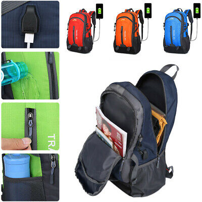 Anti-theft Backpack USB Interface Laptop Notebook Travel School Bag Portable Bag