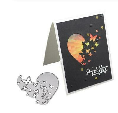 Heart Butterfly Metal Cutting Dies Stencil Scrapbooking Card Embossing Craft DIY