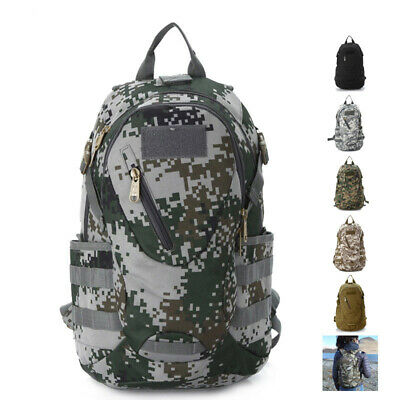 Mens Outdoor Camo Backpack Sport Military Tactical Camping Hiking Travel Bag New