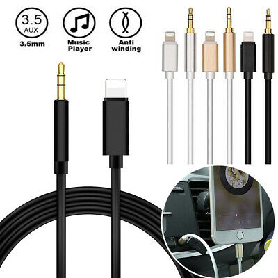 Lightning to 3.5mm Male Jack Car AUX Audio Music Adapter Cable iPhone X 6 7 8 XS