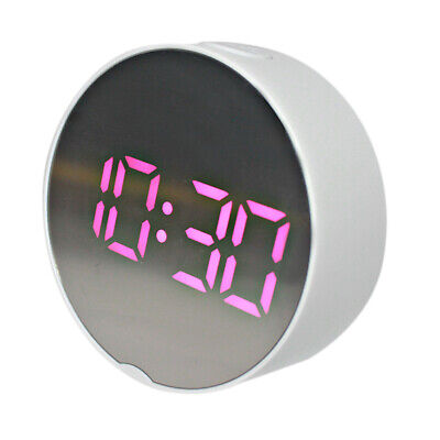 LED Digital Alarm Clock Battery Operated Only Small for Bedroom/Wall/Travel