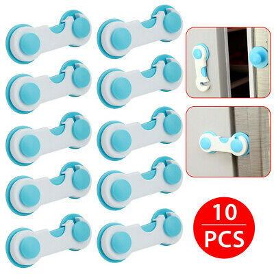 Child Safety Locks Stick On for Kitchen Door Drawer Self Adhesive Baby Proofing