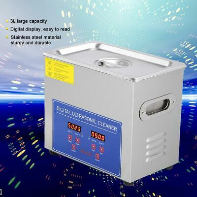 3L Stainless Ultrasonic Bath Cleaner Ultra Sonic Tank Timer Heate With Basket