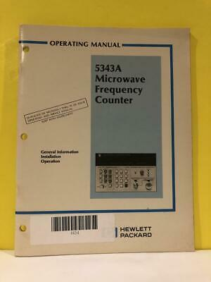 HP 05343-90010 5343A Microwave Frequency Counter Operating Information