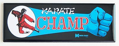 Karate Champ Marquee FRIDGE MAGNET (1.5 x 4.5 inches) arcade video game header