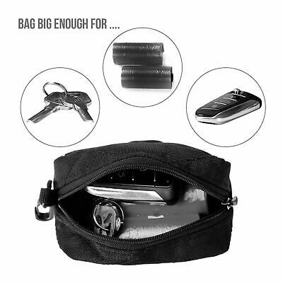 Dog Walking Storage Bag Pouch with Waste Poo Bags Dispenser Lead Attachment UK