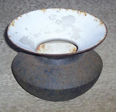 Antique Cast Iron and Porcelain Spittoon