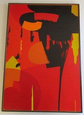 Huge Mid Century Painting Striking Urban Modernism 1960'S Abstract Expressionism