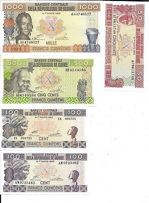 Lot De 5 Billets Du Monde En Excellent Etat