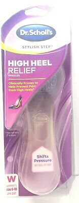 Dr Scholl's High Heel Relief Insoles Size 6-10 - New in Box
