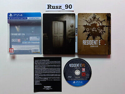 Resident Evil 7 Biohazard PS4 Steelbook Edition VR COMPATIBLE IN VERY GOOD COND