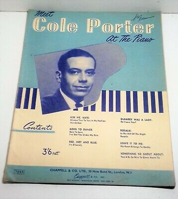 Vintage Sheet Music ;;''Cole Porter, At The Piano'' Book Of 9 Songs. Rare