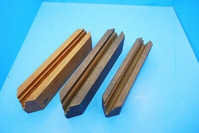 lot of 3 wood sash templates for trimming making sash w/ molding moulding planes