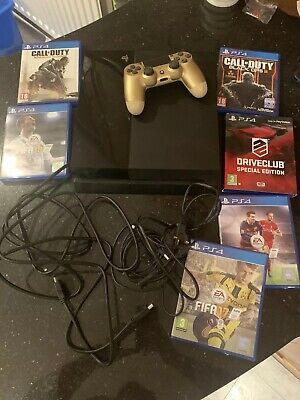 Sony PlayStation 4 500GB Console - Black 6 Games Gold Controller PS4 Fifa COD