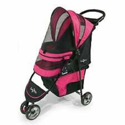 NEW Opened Box Gen7 Regal Plus Lightweight Pet Stroller Up to 25 lbs Strawberry