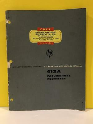 HP 412A Vacuum Tube Voltmeter Operating and Service Manual