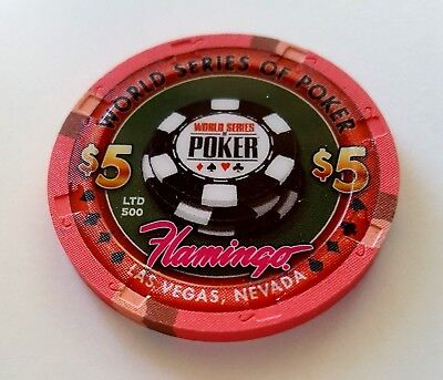 $5 Las Vegas Flamingo World Series of Poker Casino Chip - Uncirculated