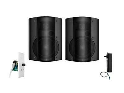 OWI AMP-CAT602-2B-BTVC One Amplified/One Non Amplified Speaker/Bluetooth/Black