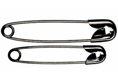 Whitecroft 53022 | Black Plated Mild Steel Safety Pins | 19mm | 1440 Pins