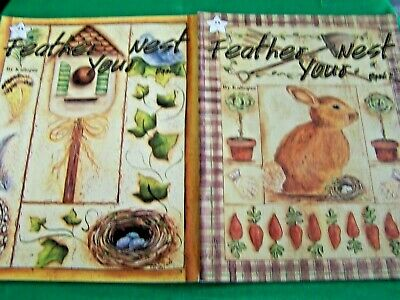 Book Lot Of 2 Feather Your Nest Book 1 & 2 By Kaliopee 1998 Gardens Tole Paint