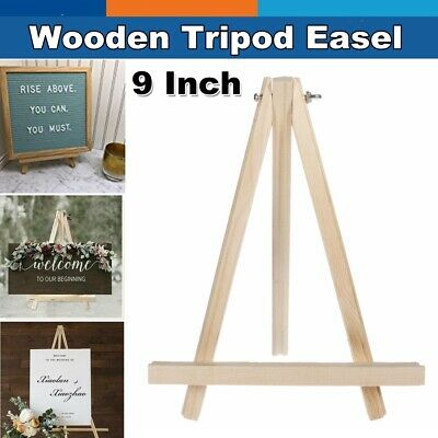 Small Wooden Mini Easel Wood Tabletop Dispaly Art Table Top