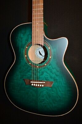 Dean Exotica QA Quilt Ash Satin Acoustic Electric Guitar - Free Shipping!