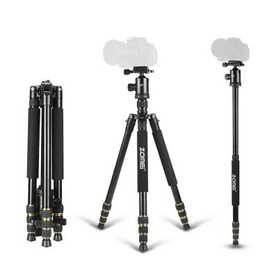 Zomei Z668 Portable Aluminum Travel Tripod&Ball Head Monopod For DSLR Sony Nikon