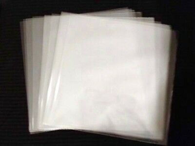 """100 45 rpm Record Outer Sleeves 3 MIL Clear Poly Plastic Premium 7"""" Vinyl Covers"""
