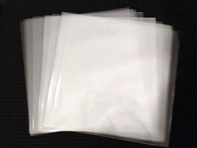 """500 Clear Plastic 45 RPM Outer Sleeves 3 Mil QUALITY 7"""" Vinyl Record Covers"""