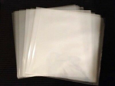 """50 Clear Plastic 45 RPM Outer Sleeves 3 Mil QUALITY 7"""" Vinyl Record EP Covers"""