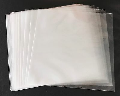 "100 Clear Poly Plastic LP Outer Sleeves 3 Mil 12"" Vinyl 33rpm Record Album Cover"