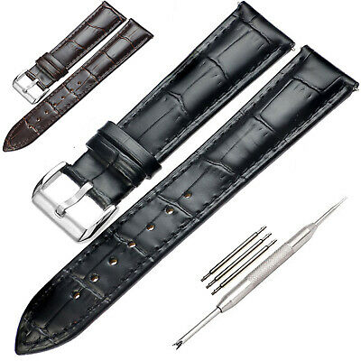 16-24 mm ★Leder★ Uhrenarmband Uhrband Rindsleder Genuine Uhr Leather Watch Strap