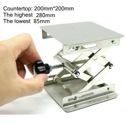 "8"" Lab Lifting Platform Stand Table Stainless Steel Manual Lifter Rack Support"