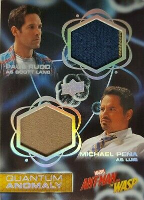 2018 Ant-Man and the Wasp DUAL Quantum Anomaly Relic Card QMD6 Scott Lang / Luis