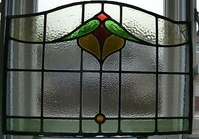 Leaded light stained glass door window panel for restoration/spares. S961.