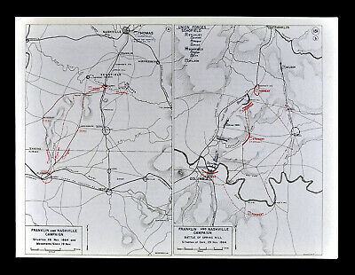 West Point Civil War Map Nashville Columbia Florence Alabama Tennessee Battles