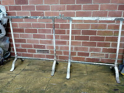 A pair of Cast iron trestles by Duglass Bros