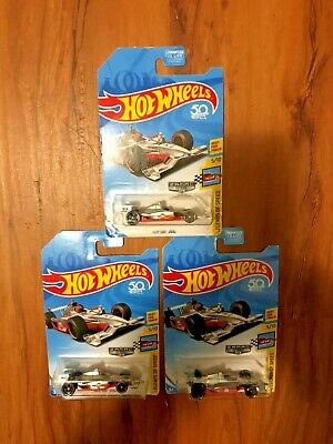 "Hot Wheels (Gulf) 50th Lot of 3-  ""ZAMAC (2018) Indy 500 Ovals"""