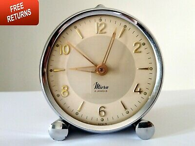 Clock Alarm Antique Ben Westclox Mechanical Big Working Rare Travel Vintage Old