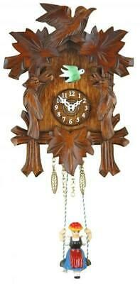 Small cuckoo clock with swinging doll and quartz movement, 2002 SQ